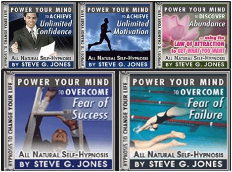 5 Titanium Technology Hypnosis Recordings by Steve G. Jones