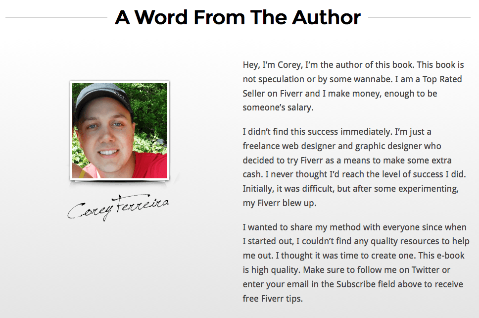 A Word From The Author