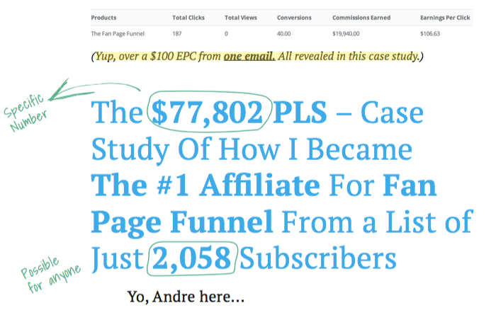 Andre Chaperon's $77K Affiliate Email Case Study