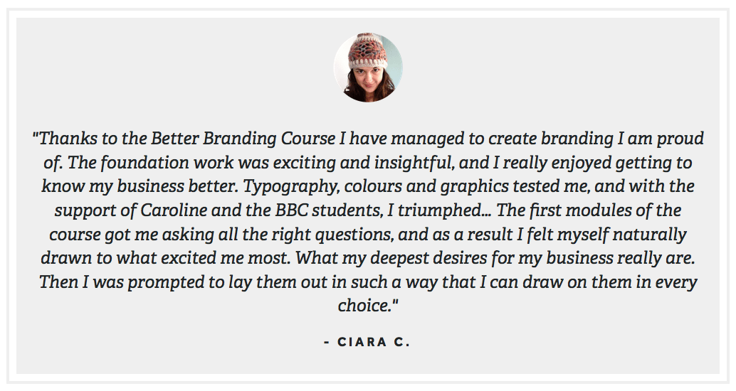 Better Branding Course - Caroline Winegeart 14