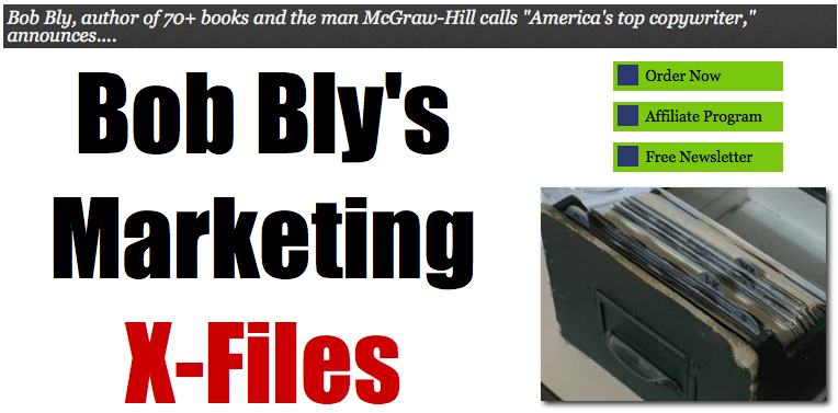 Bob Bly's Marketing X-Files