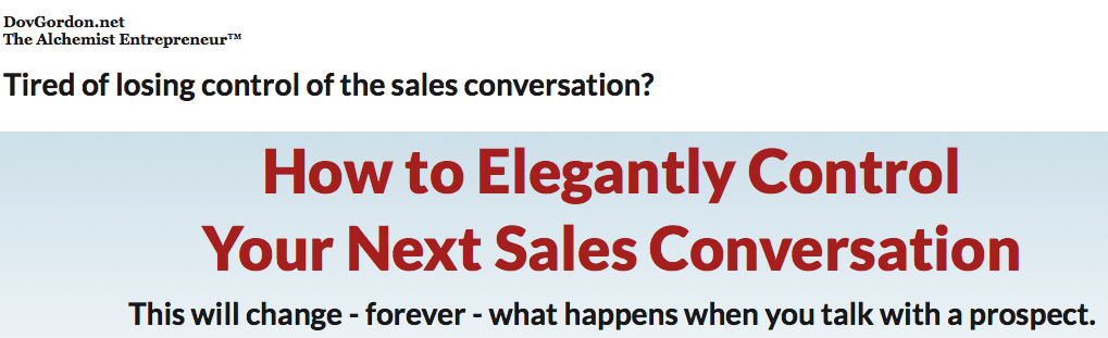 Dov Gordon - Elegant Sales Conversation