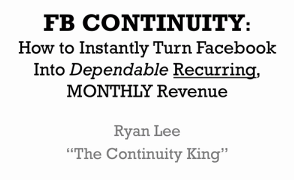FB Continuity – Ryan Lee