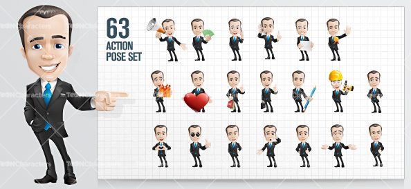 Fashionable-Businessman-Cartoon-Character