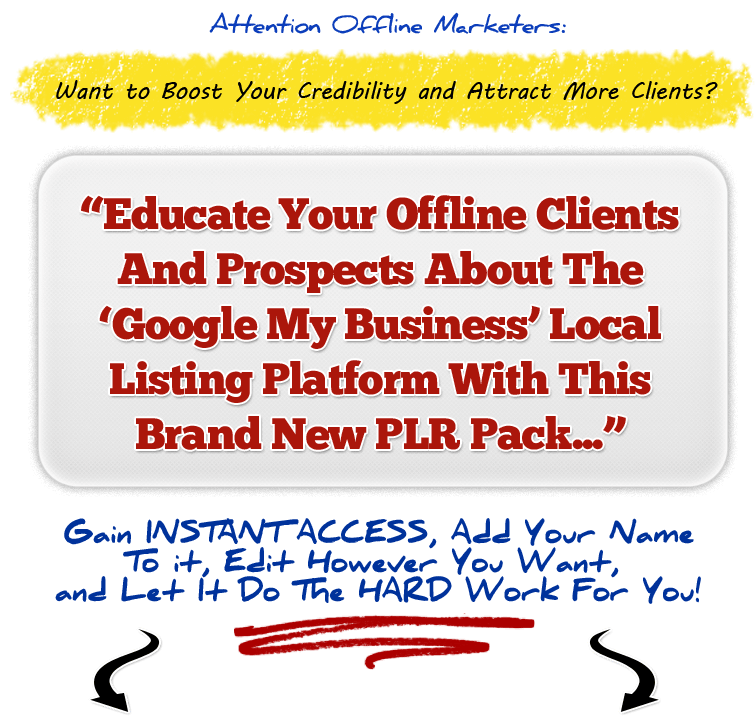 Google My Business PLR Kit