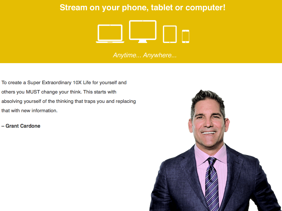 Grant Cardone - 10X Everything Webcast