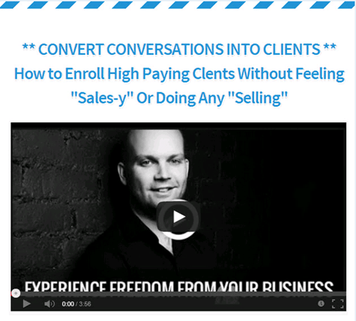 How to Enroll High Paying Clients Without Selling – Lee McIntyre