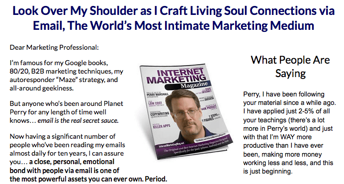 Look Over Perrys Shoulder Email Writing Course – Perry Marshall