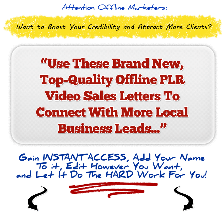 Offline Video Sales Letters PLR Pack headlinefinal