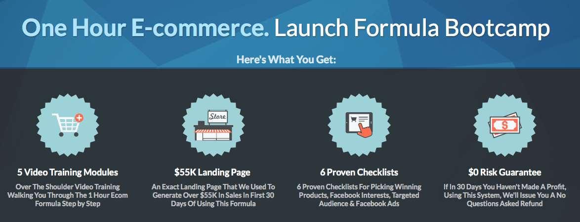 One Hour E-commerce - Launch Formula Bootcamp