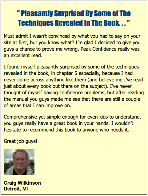 Peak Confidence – Attain the Ultimate Sense of Confidence 4