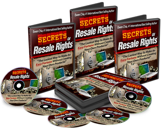 Secrets of Resale Rights boxdvdcd