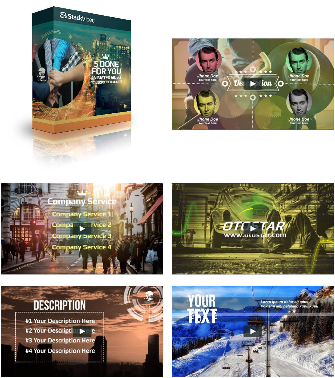 StackVideo 5 Done for Your Animated Video Powerful Template