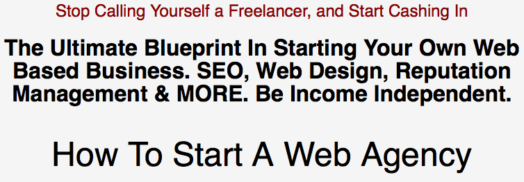 Ultimate Blueprint To Starting Your Own Web Agency