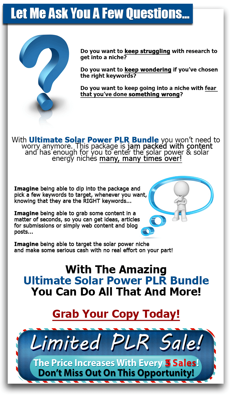 Ultimate Solar Power - PLR Bundle2