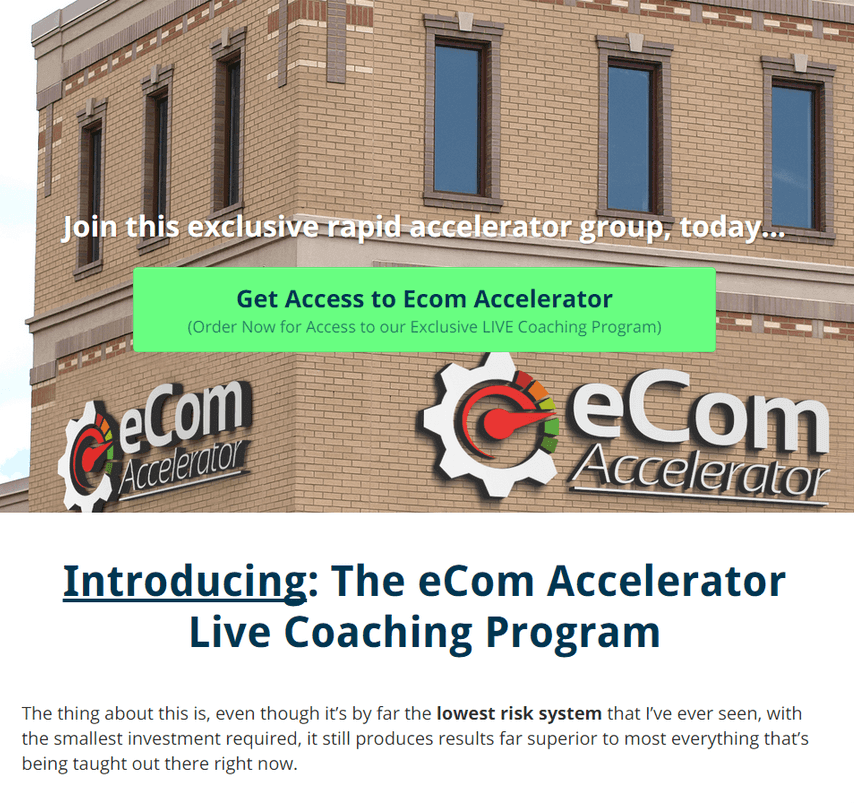 eCom Accelerator Live Coaching Program