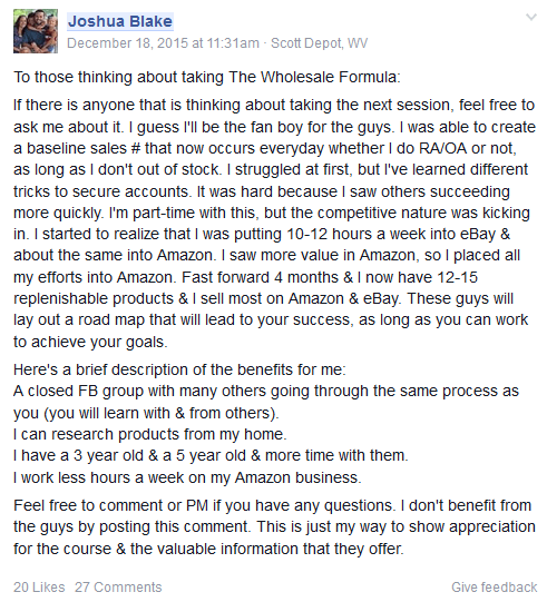 The Amazon Wholesale Formula 20163